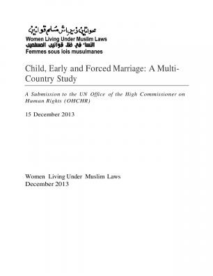 Child, Early and Forced Marriage: A Multi-Country Study